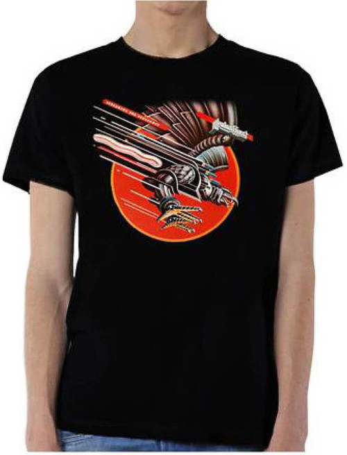 Judas Priest Screaming for Vengeance Album Cover Artwork Men's Black T-shirt