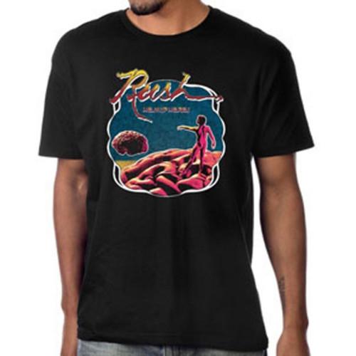 Rush Hemispheres Album Cover Artwork Men's Unisex Black Vintage Fashion T-shirt - model