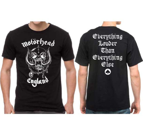 d4612482b Motorhead England War Pig Snaggletooth Logo Everything Louder Than  Everything Else Men's Black T-shirt