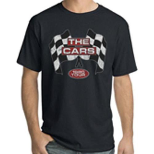 The Cars 1980 Tour Men's Unisex Black Vintage Fashion Concert T-shirt - model