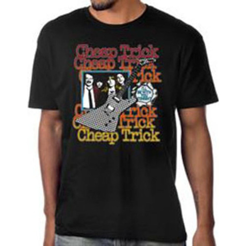 Cheap Trick I'll Be With You Tonight Song Single Album Cover Artwork Men's Unisex Black Vintage Fashion T-shirt - model