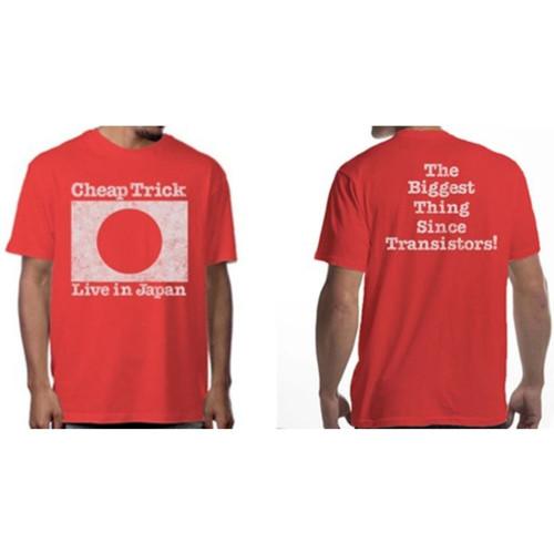 Cheap Trick Live in Japan 1978 Tour Men's Unisex Red Vintage Fashion Concert T-shirt - model