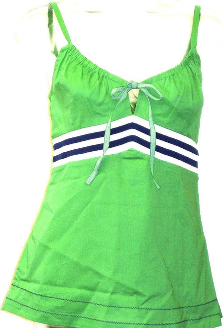 Esprit Green with White and Blue Stripe Cami Top T-shirt