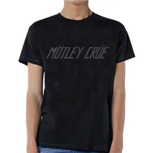 Motley Crue Too Fast for Love Album Cover Logo Men's Unisex Black Vintage Fashion T-shirt