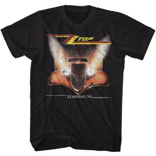 ZZ Top Eliminator Album Cover Artwork Men's Unisex Black Vintage Fashion T-shirt