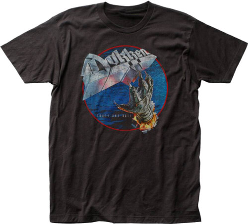 Dokken Tooth and Nail Album Cover Artwork Men's Black Vintage T-shirt