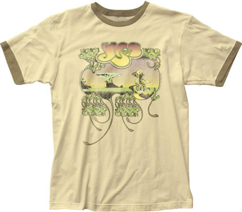 Yes Yessongs Album Cover Artwork Men's Beige Vintage Ringer T-shirt