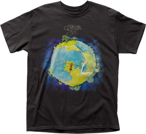 Yes Fragile Album Cover Artwork Men's Black T-shirt
