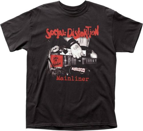 Social Distortion Mainliner (Wreckage from the Past) Album Cover Artwork Men's Black T-shirt