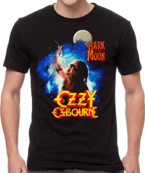 Ozzy Osbourne Bark at the Moon Back Album Cover Artwork Men's Black T-shirt
