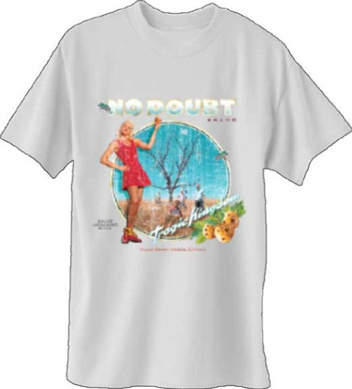 No Doubt Tragic Kingdom Album Cover Artwork Men's White T-shirt