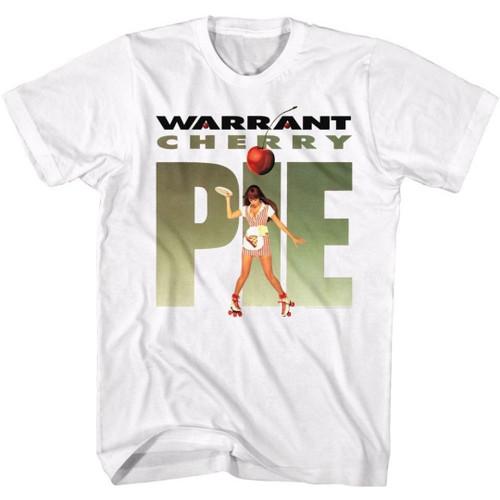 Warrant Rock Band Cherry Pie Album Cover Artwork Men's Unisex White Fashion T-shirt