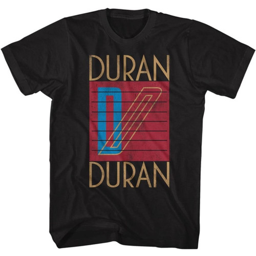 Duran Duran Logo from Seven and the Ragged Tiger Album Cover Men's Unisex Black Vintage Fashion T-shirt
