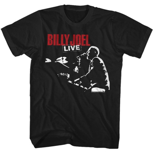 Billy Joel 12 Gardens Live Album Cover Artwork Men's Unisex Black Fashion T-shirt