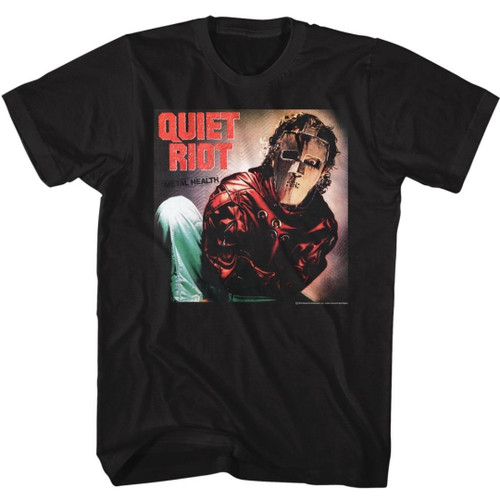 Quiet Riot Metal Health Album Cover Artwork Men's Unisex Black Vintage Fashion T-shirt