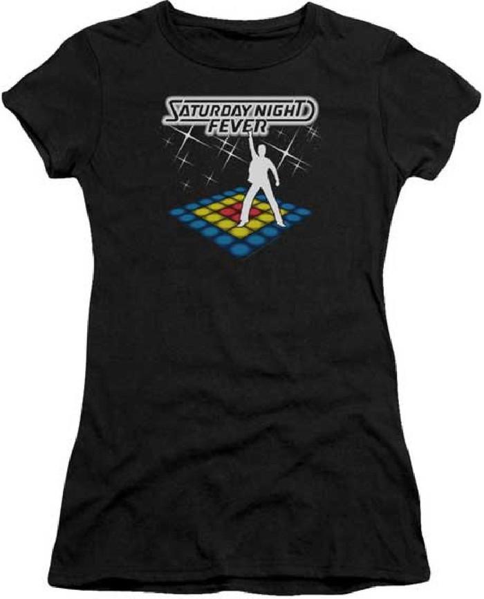 Saturday Night Fever Movie Poster Women's Black T-shirt