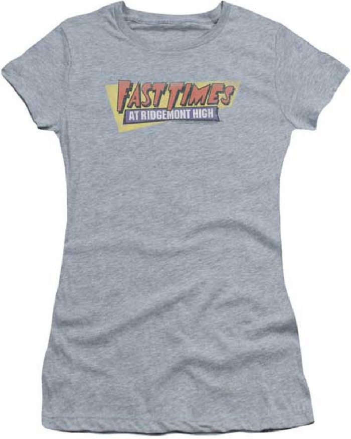 Fast Times at Ridgemont High Movie Logo Women's Gray Vintage T-shirt
