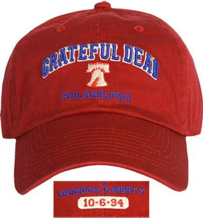 Grateful Dead Philadelphia Spectrum Philadelphia, Pennsylvania October 6, 1994 Concert Baseball Cap Hat