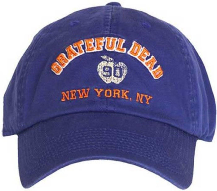 Grateful Dead Madison Square Garden New York, New York 1990 Concerts Vintage Blue Baseball Cap Hat