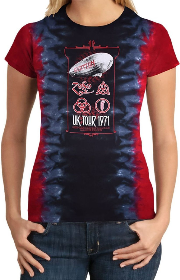 DEL ZEPPELIN-UK Tour 1971 T Shirt
