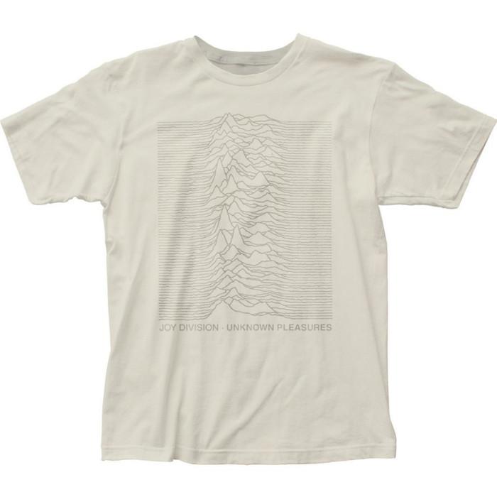 Joy Division Unknown Pleasures Album Cover Artwork Men's Unisex White Vintage Fashion T-shirt
