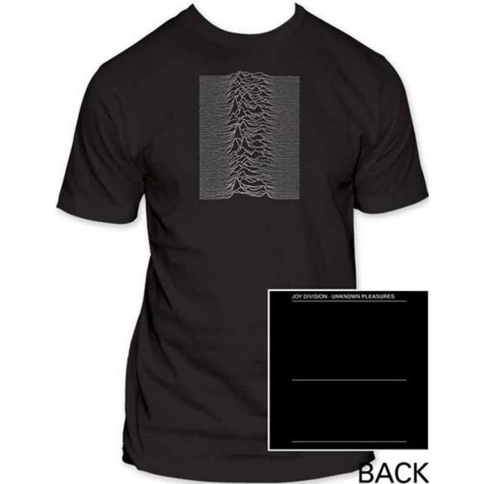 Joy Division Unknown Pleasures Album Cover Artwork Men's Unisex Black Fashion T-shirt