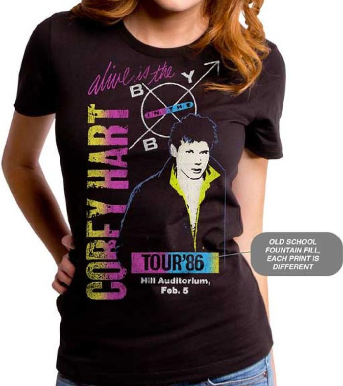 Corey Hart Boy in the Box Tour Women's Black Vintage Concert T-shirt