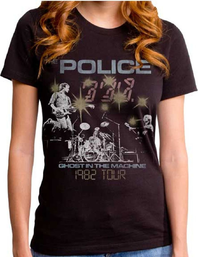 Police Ghost in the Machine 1982 Tour Women's Concert T-shirt
