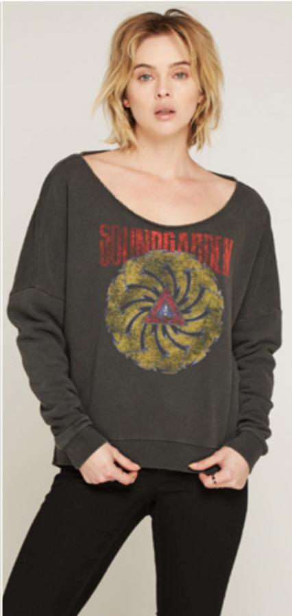 Soundgarden Badmotorfinger Album Cover Artwork Gray Vintage Slashback Sweatshirt by Trunk Ltd. - front