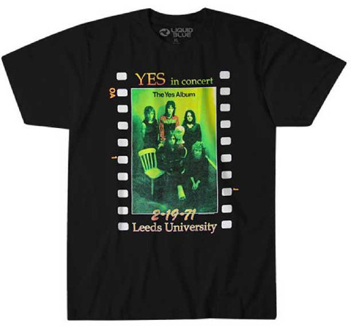 Yes In Concert Leeds University February 19, 1971 The Yes Album Cover Artwork Men's Black T-shirt