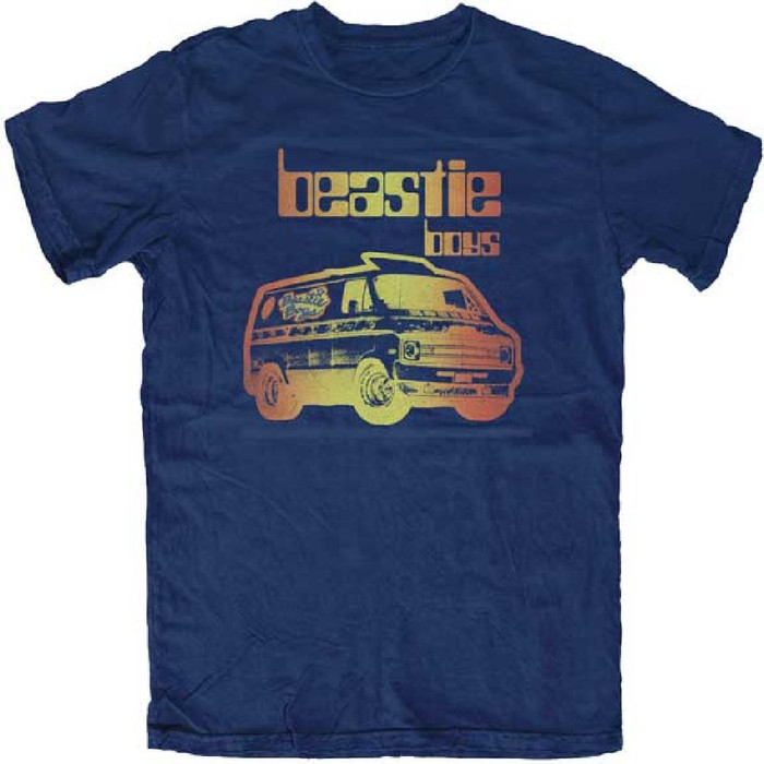 Beastie Boys Custom Van Logo Men's Navy Blue T-shirt