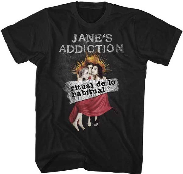 Jane's Addiction Ritual de lo Habitual Album Cover Artwork Men's Black T-shirt