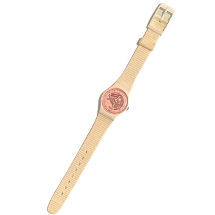 Swatch Watch LW119 White Lady Women's White Vintage Fashion Watch - front