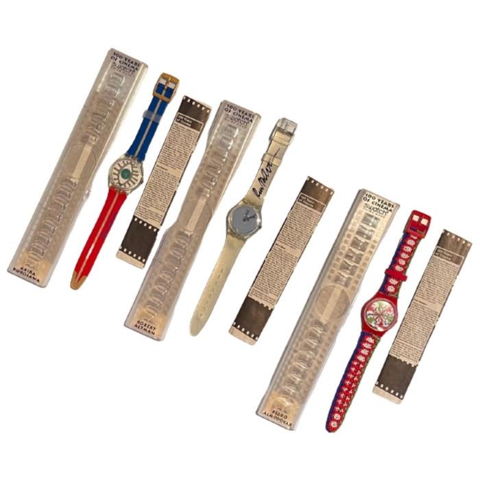 Swatch 100 Years of Cinema Robert Altman, Pedro Almodova, Akira Kurosawa Vintage 1995 Unisex Vintage Watch Collection