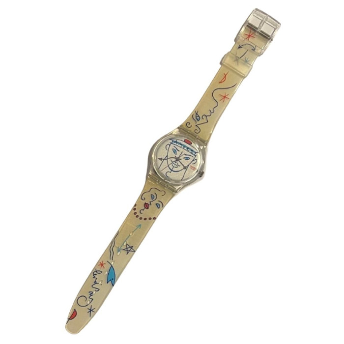 Swatch GK207 Flowers by Lindsay Kemp 1995-1996 Artist Series Vintage Unisex Fashion Watch - front