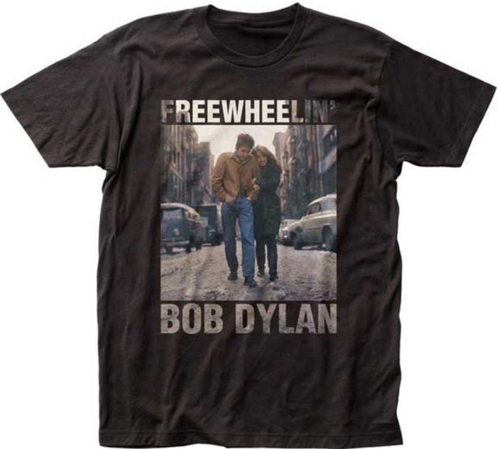 Bob Dylan The Freewheelin' Bob Dylan Album Cover Artwork Men's Unisex Black Fashion T-shirt