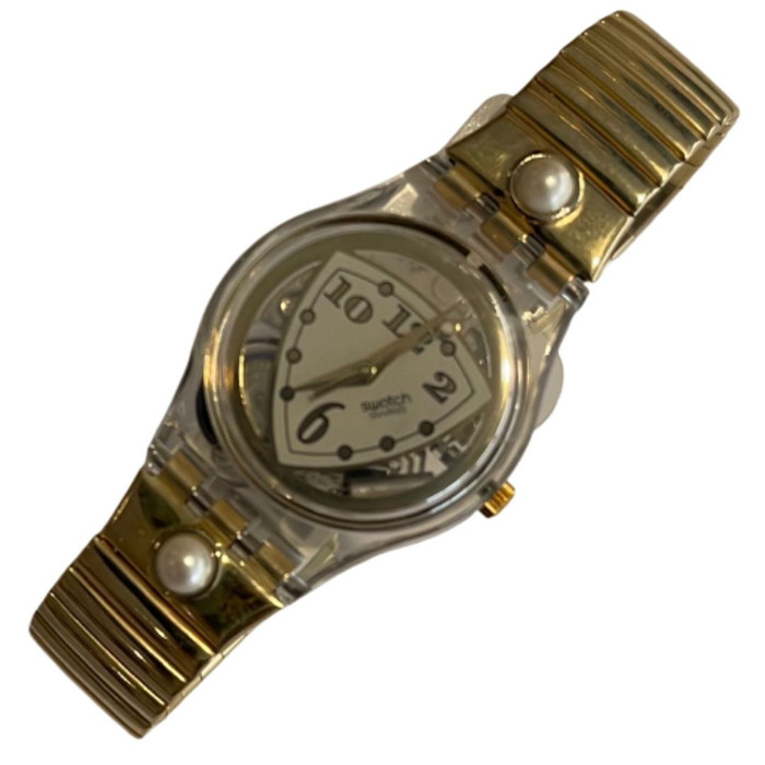Swatch LK151 Women's Vintage Fashion Watch - front