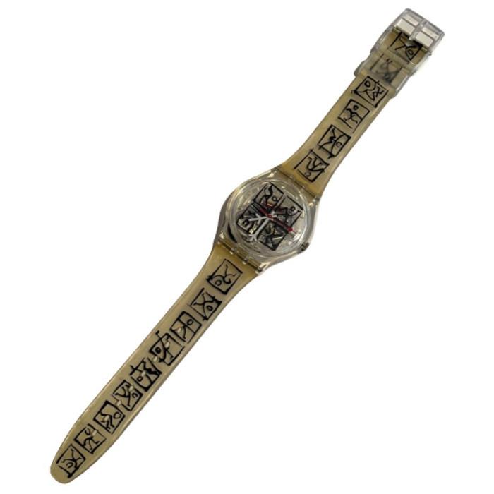 Swatch GK298 Zeit by Matthias Winkler Vintage Unisex Fashion Watch - front