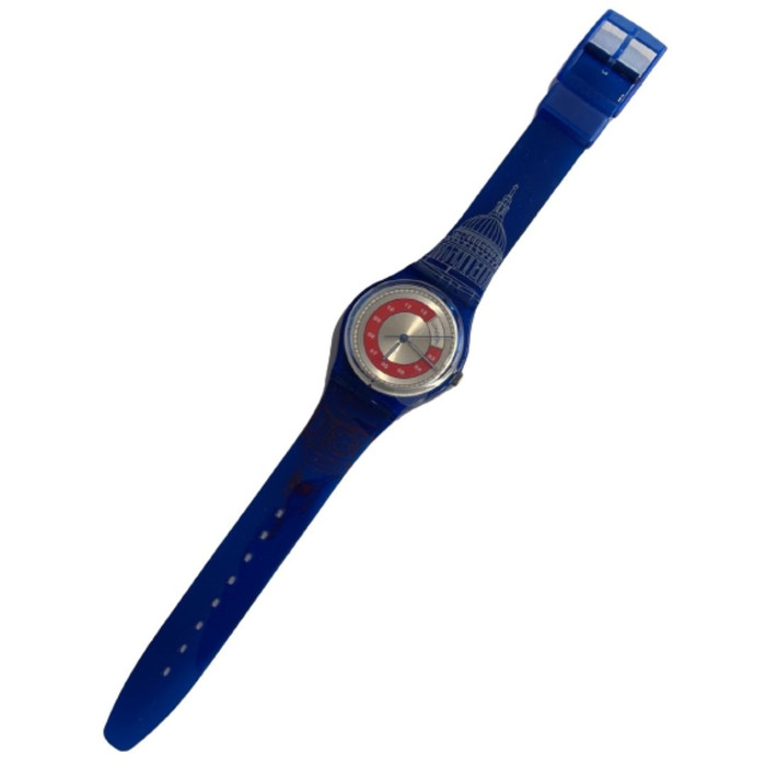 Swatch GN190 London Vintage Unisex Fashion Watch - front