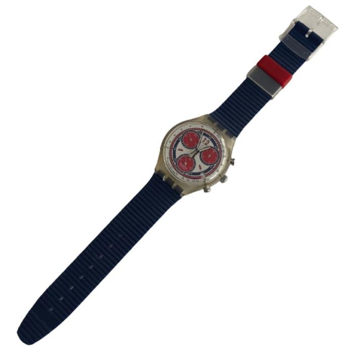 Swatch SCK402 Sea Port Chorno Vintage Unisex Fashion Watch - front
