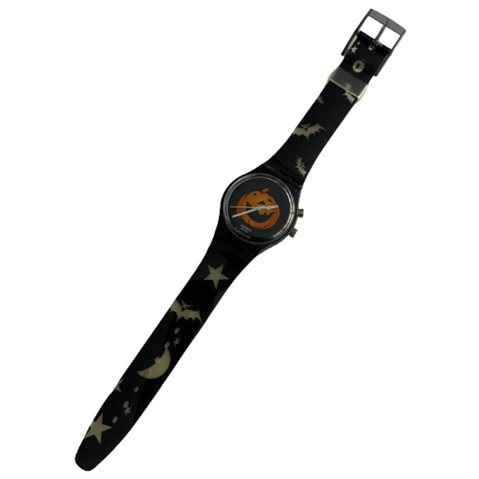 Swatch Loomi Limited Edition Halloween Pumpkin Puzzle Vintage Unisex Watch Gift Pack - watch front