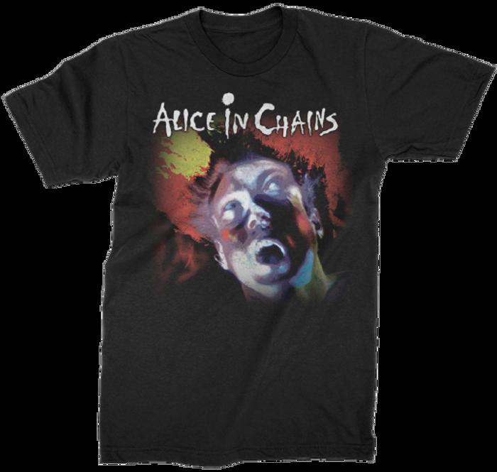 Alice In Chains Facelift Album Cover Artwork Men's Black T-shirt