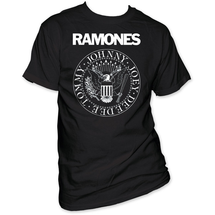 Ramones Presidential Seal Logo Men's Black T-shirt