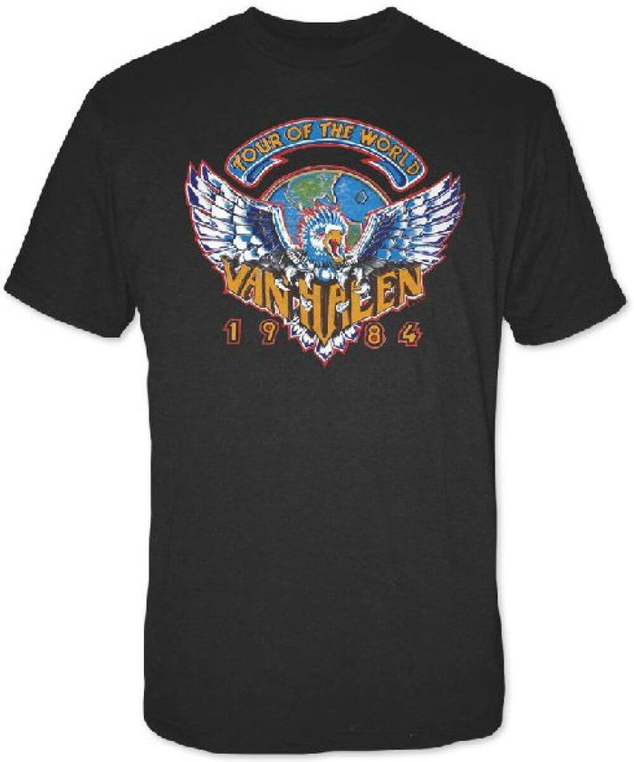 Van Halen 1984 Tour of the World Men's Black Concert T-shirt