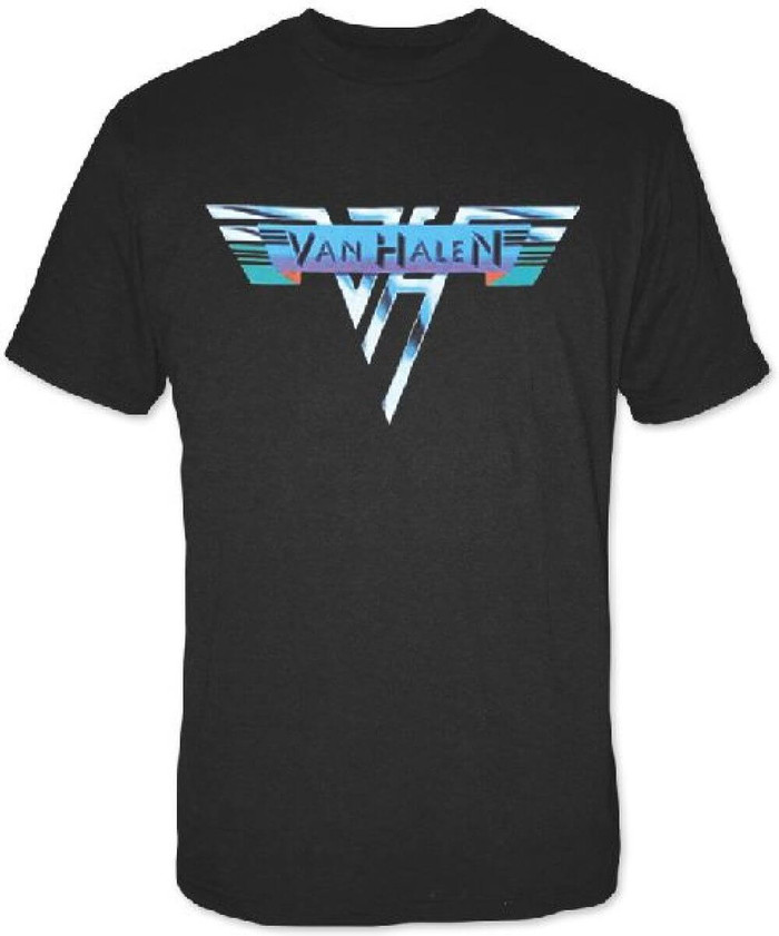 Van Halen Original Logo from 1978 Men's Black T-shirt