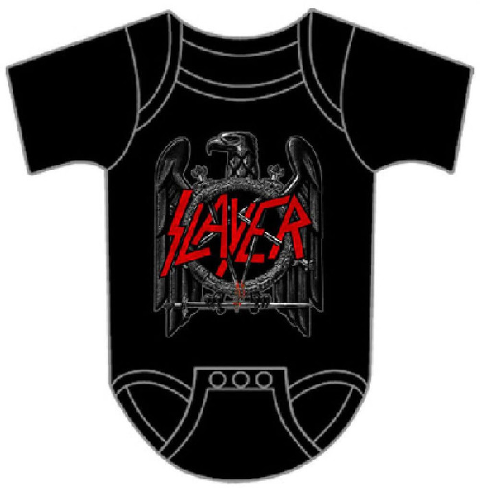 Slayer Eagle Logo Baby Onesie Infant Romper Suit in Black