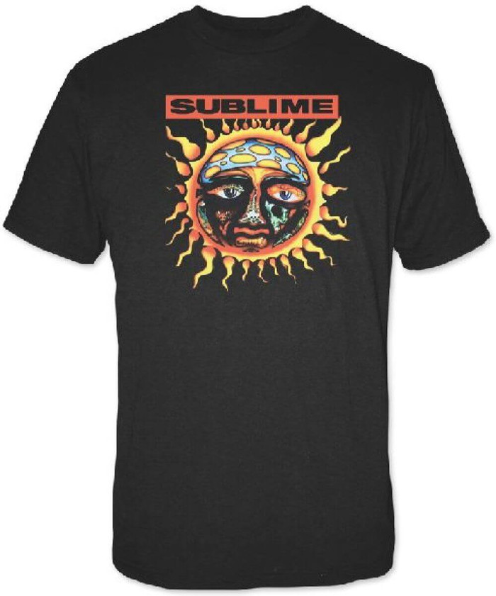 Sublime Sun Logo from 40 Oz. To Freedom Album Cover Men's Black T-shirt