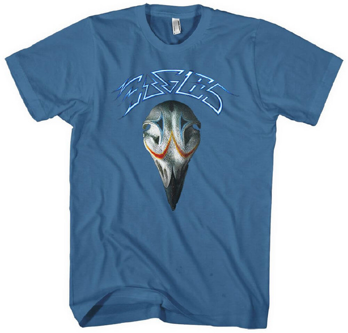 Eagles Greatest Hits Album Cover Artwork Men's Blue T-shirt