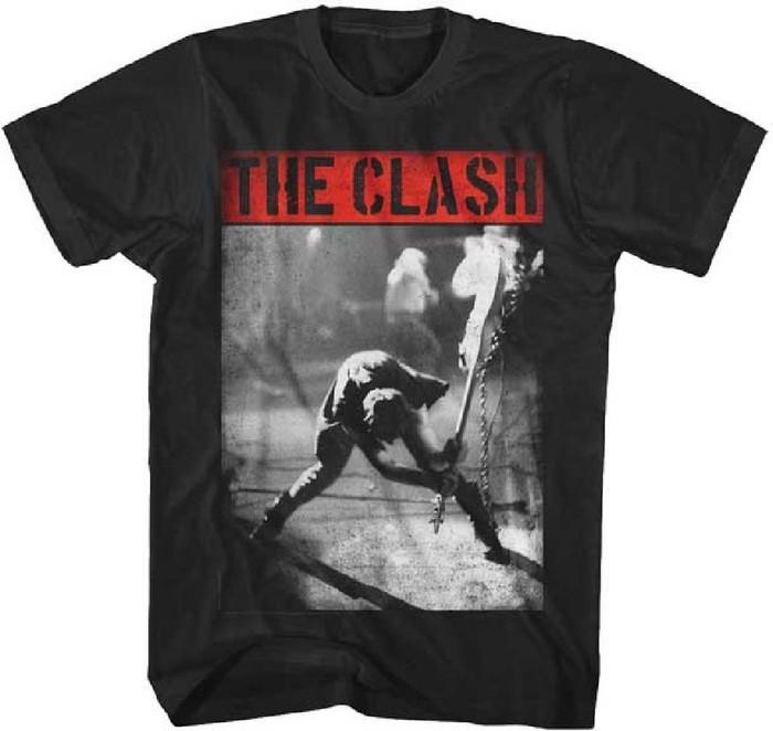 The Clash London Calling Album Cover Artwork Men's Vintage T-shirt