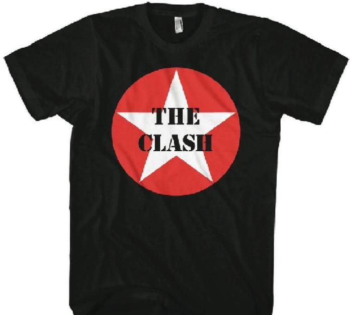 The Clash Military Star Logo Men's Black T-shirt